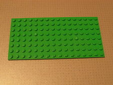 Lego Base Plate Building Board 8 x 16 Studs Bright Green Good Condition (92438)