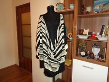 ANTONIO MARRAS QUIRKY KNITTED STRIPED OVERSIZED BOXY DRAPED FRONT TUNIC -8/10-UK