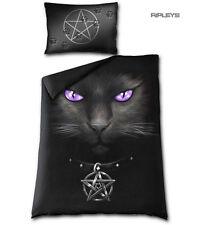 Spiral Direct BEDDING Single Duvet & Pillowcase BLACK CAT Pentagram