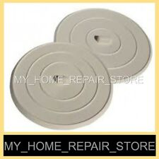 YOU GET 2 ! FREE S&H ! CAN'T SOAK YOUR DISHES? FLAT RUBBER KITCHEN SINK STOPPERS