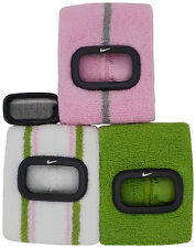 New Nike Cuff 3pc WR0094 Shy Pink Green White Fitness Sports Arm Band Watch