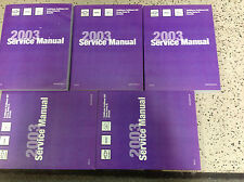 2003 CHEVY TRAILBLAZER GMC ENVOY & BRAVADA Service Shop Repair Manual SET NEW