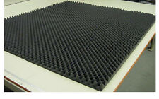"Charcoal Eggcrate Acoustic Soundproofing Foam 82""x 72""x 1-1/2"" Thick"