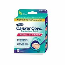 4 Pack - DenTek Canker Cover Medicated Mouth Sore Patch, 6 Count Each