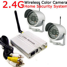 2.4G Wireless 4CH Home Security Surveillance Video System 2 CCTV Color Camera