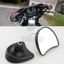 Black Inner Fairing Mount Side Rear Mirrors for Harley Street Glide 1996-2013