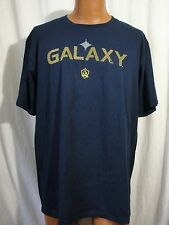 Adidas LA Galaxy Soccer Futbol T-Shirt XL Black Short Sleeves The Go To Tee Crew