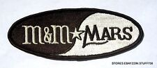 """M & M MARS CANDY COMPANY EMBROIDERED SEW ON PATCH ADVERTISING 5 3/4"""" x  2 1/4"""""""