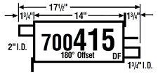 Exhaust Muffler AP Exhaust 700415 fits 99-03 Mazda Protege