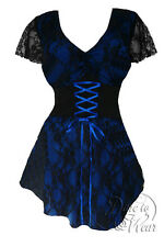 NWT WOMENS PLUS SIZE CLOTHING SWEETHEART CORSET TOP IN BLUEBERRY 5X