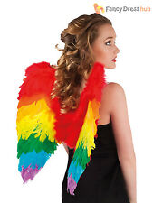 Ladies Rainbow Wings Fancy Dress Gay Pride Carnival Parade Festival Accessory