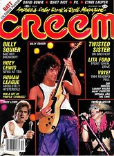 Creem Music Magazine December 1984 David Bowie Quiet Riot Cyndi Lauper RATT