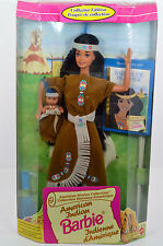 NIB-1995 AMERICAN INDIAN BARBIE-AMERICAN STORIES BOOK-BABY COUSIN-FRENCH/ENGLISH