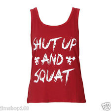 UK Women Workout Tank Top T-shirt-Gym Clothes Fitness Yoga Lift Sexy VEST Blouse