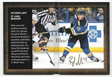 15/16 SP Authentic Authentic Moments #RF Robby Fabbri On Card Autograph Booklet