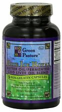 Green Pasture Blue Ice Royal Butter Oil Fermented Cod Liver Oil Blend 120 Caps
