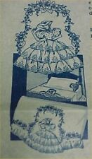 Southern Belle Embroidered Pillowcases PATTERN Ruffles Eyelet Lace