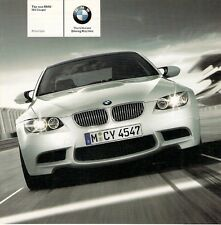 BMW M3 Coupe 2007-08 UK Market Specification Brochure 3-Series