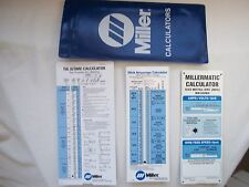 NEW MILLER MILLERMATIC WELDING GUIDE CALCULATOR MIG TIG STICK IN NICE POUCH