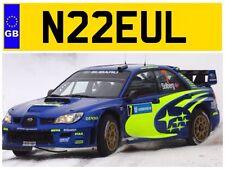 N22 EUL NEIL NEILS NEILL NEILLS O'NEILL O'NEIL NELL ONEIL CAR NUMBER PLATE JAG