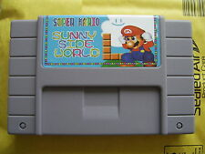 Super Mario Sunny Side World for Nintendo SNES Super Famicom console