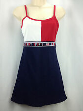 Vintage Tommy Hilfiger Dress Small Sports Athletic Tennis 90's Colorblock USA