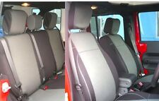 Jeep Wrangler 2011-14 Unlimited Rubicon neoprene Full set seat cover gray 13yes