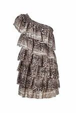 new RRP$220 COUNTRY ROAD 100% SLK ONE SHOULDER DRESS 14 FREE POST more sz avail