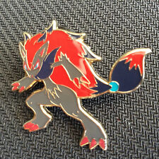 POKEMON ZOROARK OFFICIAL COLLECTOR'S PIN + ZOROARK 73/146 HOLO RARE XY BASE SET