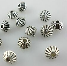 100pcs Tibetan Silver Cone Spacer Beads 4x5mm DIY Jewelry Making