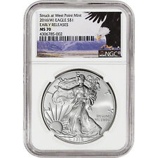 2016-(W) American Silver Eagle - NGC MS70 - Early Releases - Bald Eagle Label