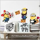 Minions Despicable Me 2 Removable Art Kids Mural Deco Wall stickers Wall Decal