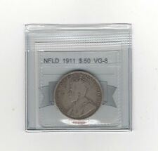 **1911**, Coin Mart Graded, Newfoundland $.50 Cent,**VG-8**