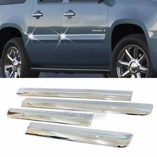 Chrome Side Door Line Garnish Molding Trim Cover 4P for GMC 2007- 13 14 Yukon XL