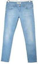 Topshop Skinny BAXTER Light Blue Low Rise Stretch Jeans Size 12 W30 L30