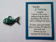 s DREAM Fish By The Sea LIVE THE DREAM Pocket Token Charm Ocean Lover ganz