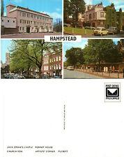 1970's MULTI VIEWS OF HAMPSTEAD UNUSED COLOUR POSTCARD