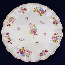 Large Antique Floral Pattern Tea Tray for Tete a Tete Service Blush Ivory c 1900
