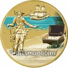 Tuvalu 2010 2011 Pirates Buccaneers 1 Blackbeard Golden Age Piracy $1 BU Dollar