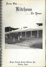 *NEWTON IA VINTAGE *JASPER COUNTY SENIOR CITIZENS KITCHENS COOK BOOK *LOCAL ADS
