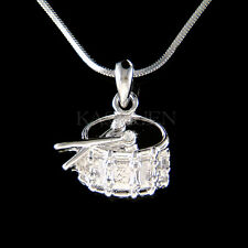 w Swarovski Crystal Pipe Band Bass Snare Drum Music Musical Jewelry Necklace New