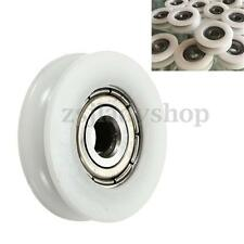 1pc Round Groove Nylon Pulley Wheels Roller for Slide Gate/Angle Bar/Drawers
