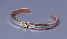 Well Behaved Women Rarely Make History Cuff Bracelet Adjustable Silver & Copper
