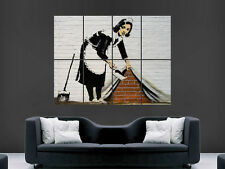 BANKSY GRAFFITI MAID  GIANT IMAGE HUGE LARGE WALL ART POSTER PICTURE