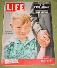 LIFE MAGAZINE AUGUST 29 1955 BILLY CONNER WITH GRANDDAD HURRICANE DIANE