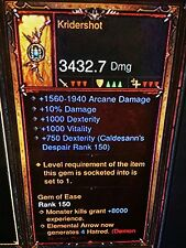 Diablo 3 Primal Antigua kridershot nuevo Parche 2.5 Demon Hunter arma Xbox One