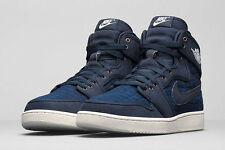 2016 Nike Air Jordan 1 KO High OG SZ 10 Obsidian Blue Sail white 638471-403