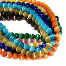 Wholesale Mixed   6MM Round Cats Eye Loose Beads Crafts Jewelry Finding DIY