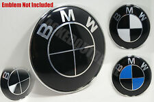 BMW GLOSS Black Emblem Vinyl Overlay Rims Hood Trunk Steering Wheel Decal Vinyl