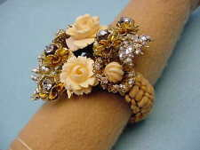 Larry Vrba Signed   Wrap Around Flower  Bracelet  Fabulous